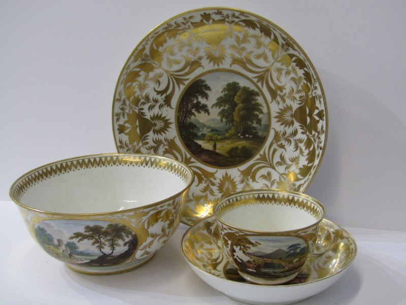 REGENCY CROWN DERBY, a fine gilded part tea service decorated with named topographical reserves - Image 2 of 4