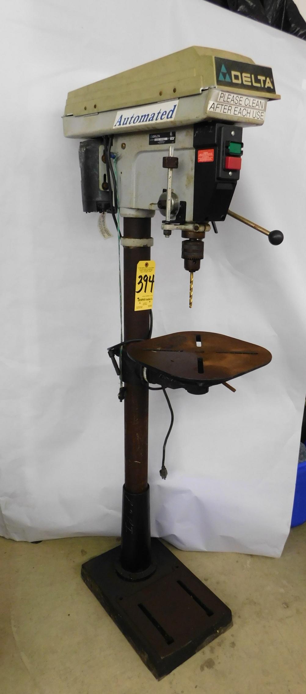 """Lot 394 - Delta Model 17-965, 17"""" Floor Model Drill Press, 115V, 1phs."""