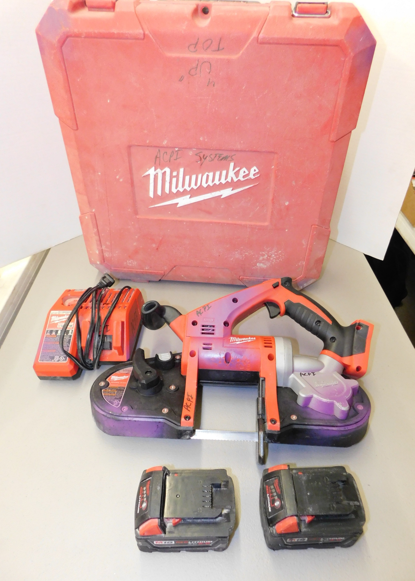 Lot 258 - Milwaukee Model 2629-20 18V Cordless Portable Bandsaw with Battery and Charger