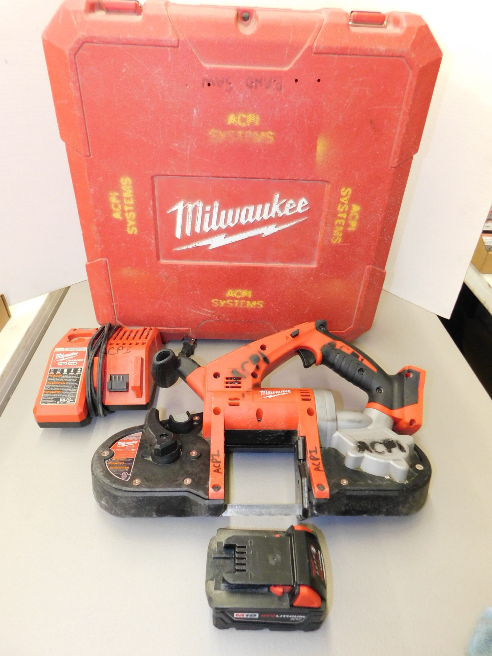 Lot 257 - Milwaukee Model 2629-20 18V Cordless Portable Bandsaw with Battery and Charger