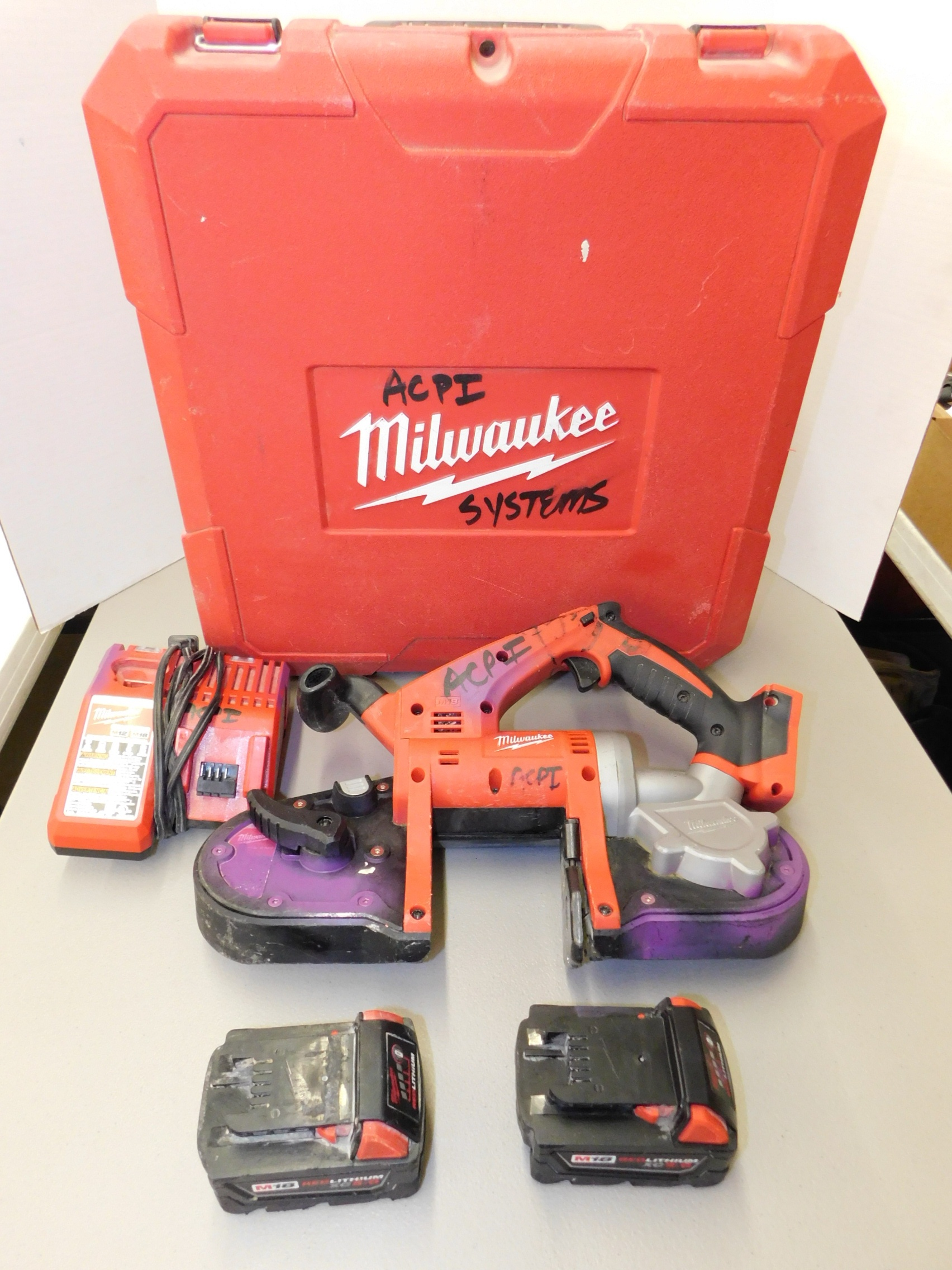 Lot 259 - Milwaukee Model 2629-20 18V Cordless Portable Bandsaw with Battery and Charger
