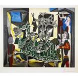 Pablo Picasso. Deux periodes. Farblithographie nach einer Zeichnung. 1954. 40,5 : 48,0 cm (74,0 :