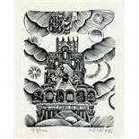Ilya Schor. The Sabbath. Zwölf Holzschnitte. Ca. 1950. 12 : 9 cm. Signiert und nummeriert.