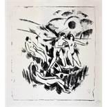 Max Pechstein. Morgen. Lithographie. 1913. 38,5 : 34,5 cm (55 : 42 cm). Monogrammiert, sowohl mit