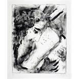 Marc Chagall. Moïse et les tables. Lithographie. 1952. 50,3 : 39,5 cm (65,7 : 50,3 cm). Signiert und