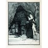 Heinrich Vogeler. Weihnachten. Aquatintaradierung. 1912. 39,0 : 29,0 cm (50,0 : 42,0 cm).