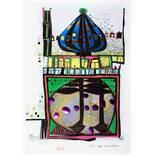 Friedensreich Hundertwasser. 10002 Nights Homo humus come va how do you do. Mixed media (