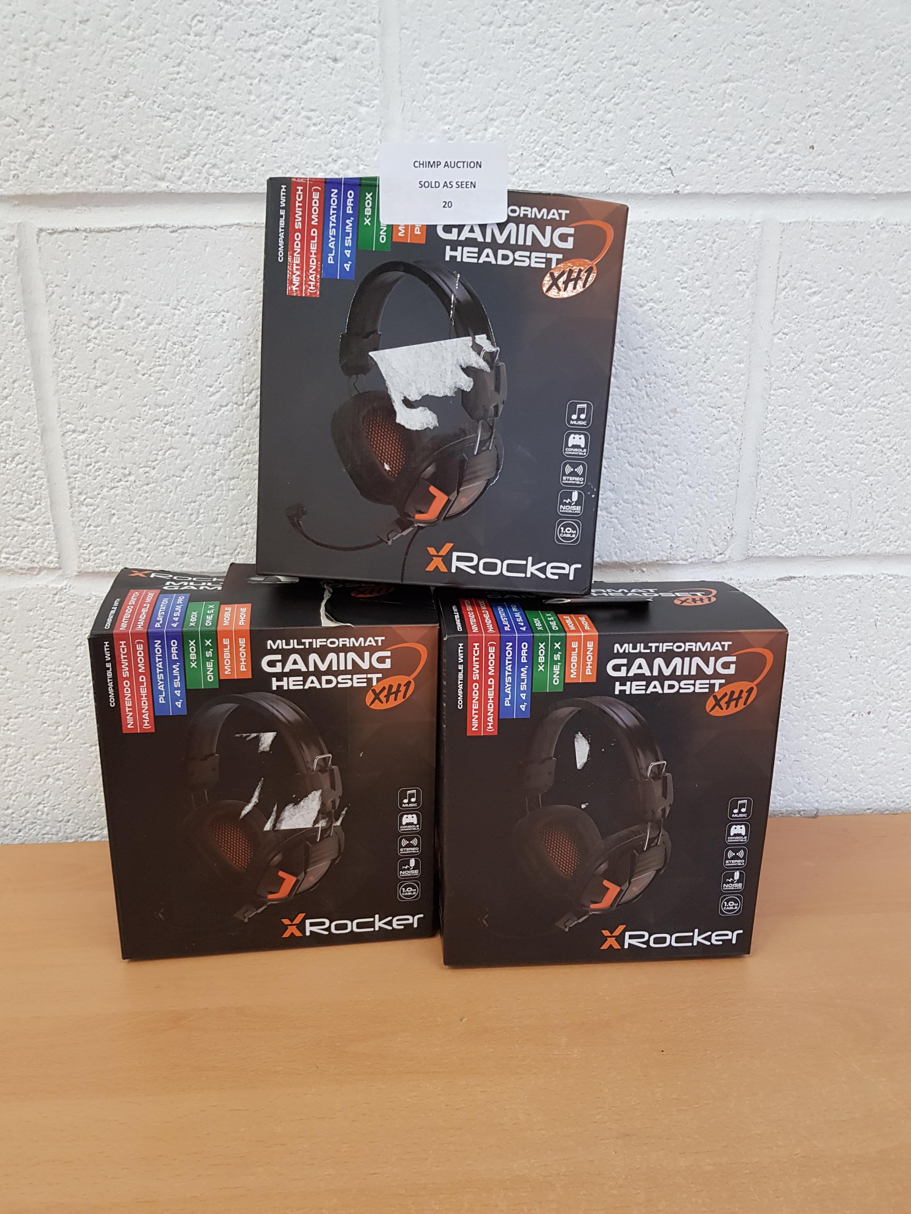 3x Mixed Xrocker Multi Format Gaming Headsets