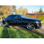 """On Sale MERCEDES E220d """"AMG LINE"""" 9G AUTO SALOON - 18 REG - BLACK - LOW MILES - HUGE SPEC- SAT NAV -"""