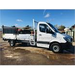 """On Sale MERCEDES SPRINTER 316CDI LWB """"14FT DROPSIDE"""" WITH TAIL-LIFT (17 REG) EURO 6 - ULEZ COMPLIANT"""