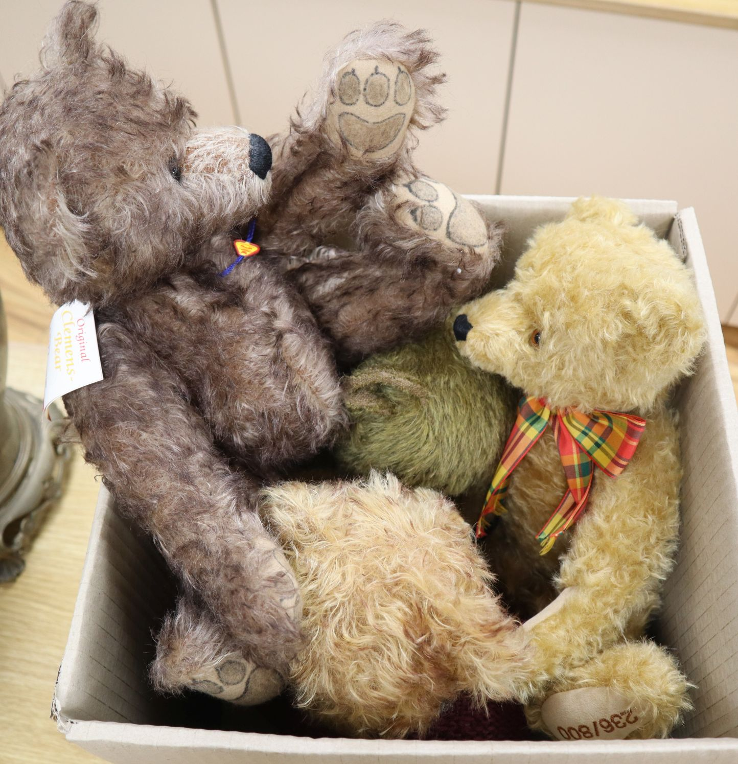Lot 24 - A Norberry bear, two Teddy Herman and one Clements bear