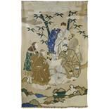 A LARGE CHINESE SILK KESI PANEL, 19TH CENTURY