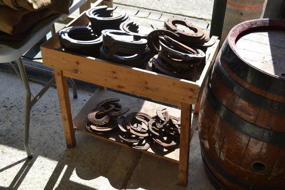 Lot 24 - Quantity of heavy horse and other horse shoes.