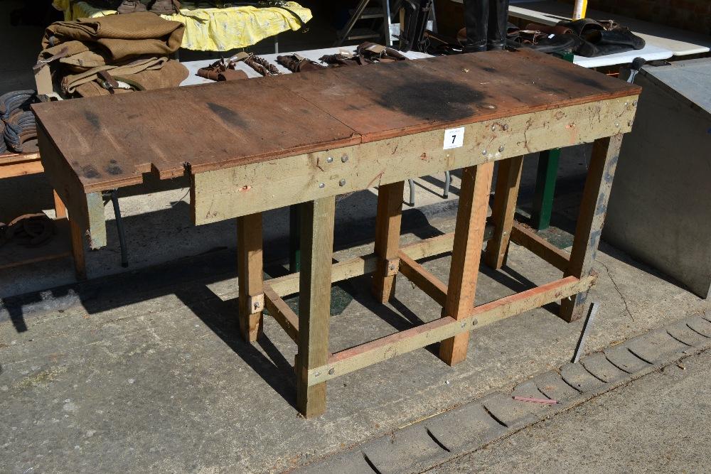 Lot 7 - Wooden work bench.