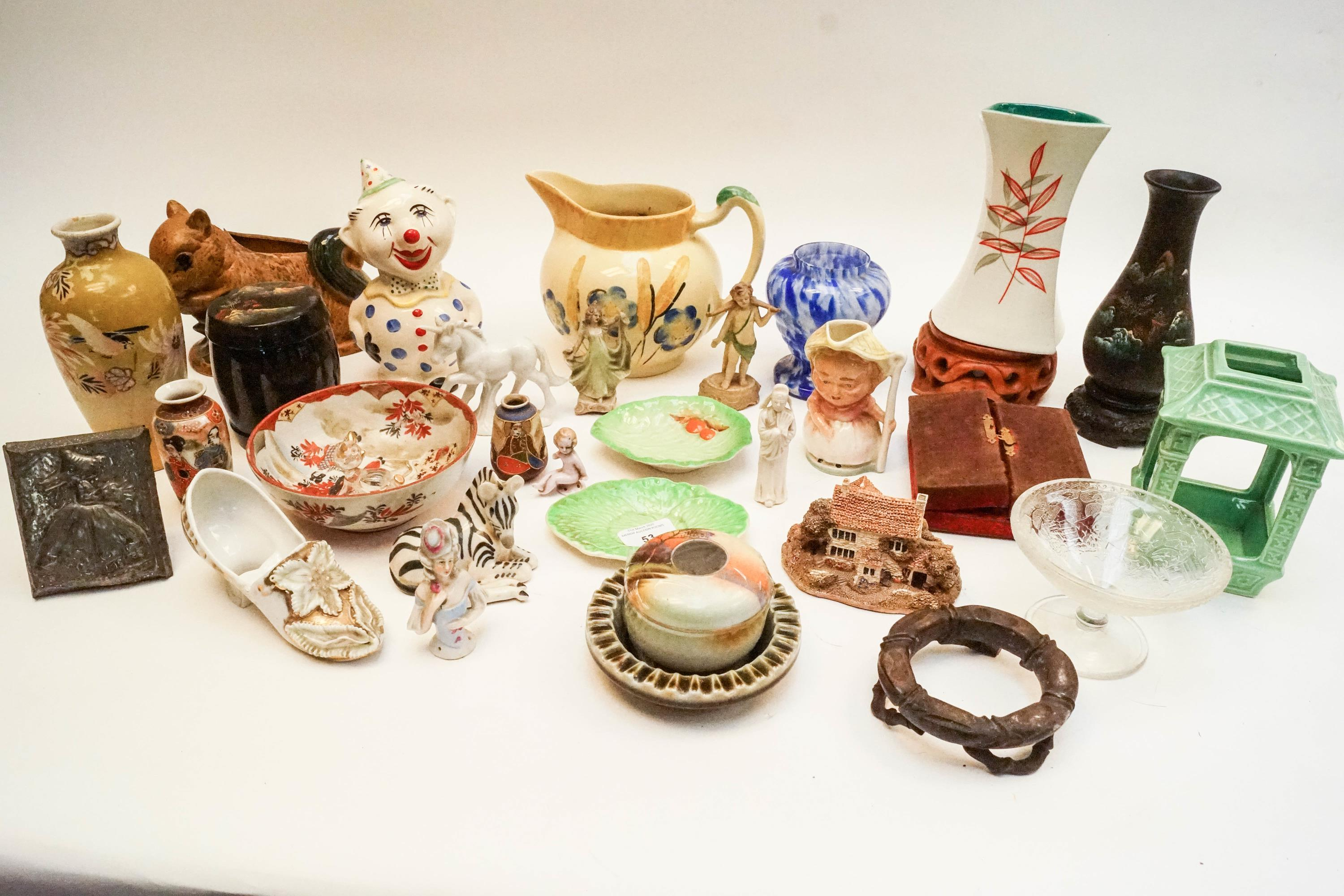 An Art Deco pottery shell vase and other items - Image 2 of 2