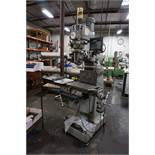 "SHARP VERTICAL MILLING MACHINE, 9"" x 50"" TABLE, S/N 70200420, WITH NEWALL TOPAZ DRO, WITH MANUAL AND"