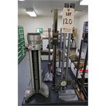"""LOT TO INCLUDE: (1) 24"""" MITUTOYO DIAL HEIGHT GAGE, (1) MITUTOYO DIGITAL HEIGHT GAGE, (1) CADILLAC"""