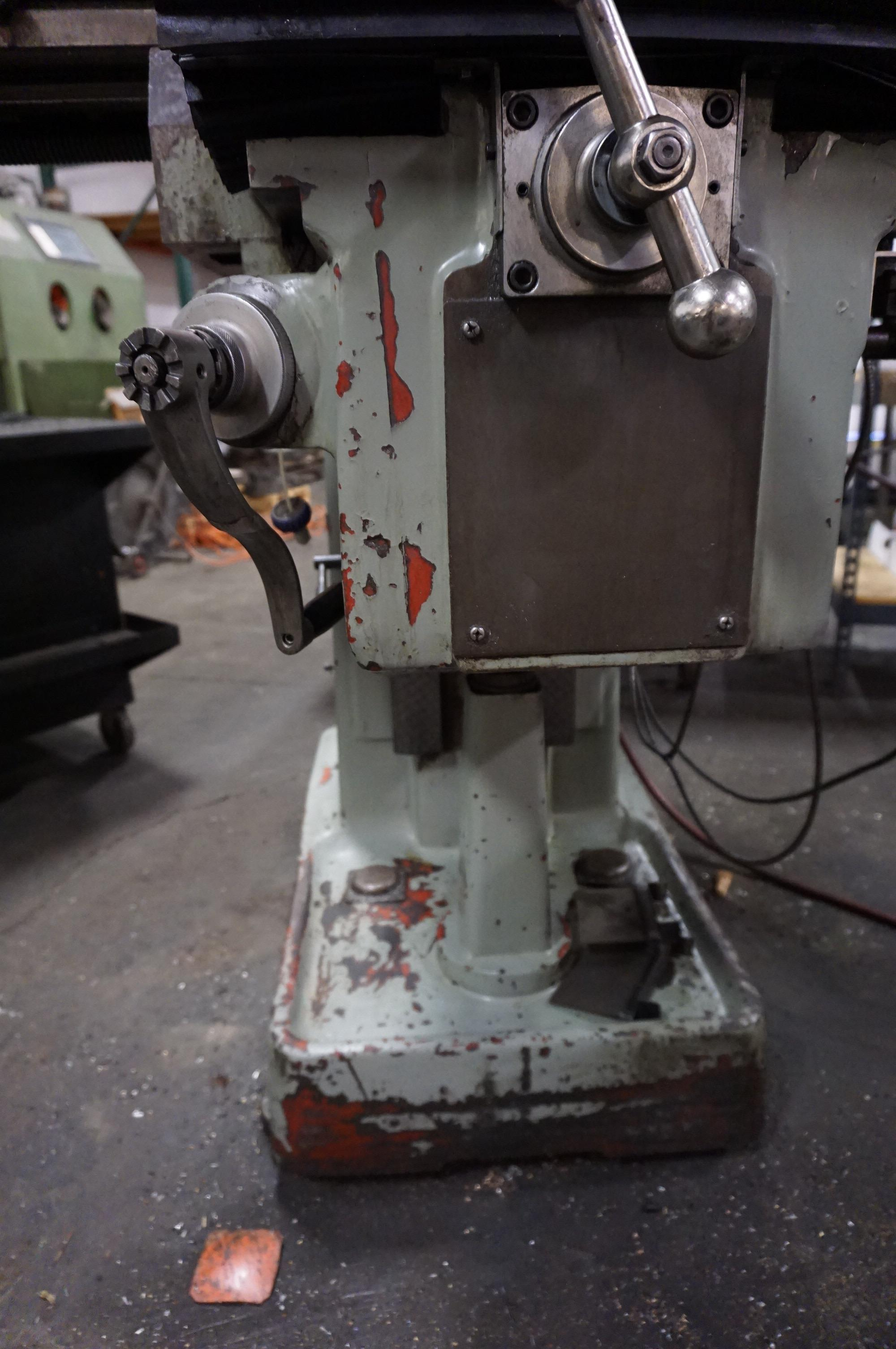 """SHARP VERTICAL MILLING MACHINE, 10"""" x 50"""" Table, S/N 70200420, with Newall Topaz DRO, with Manual - Image 6 of 7"""