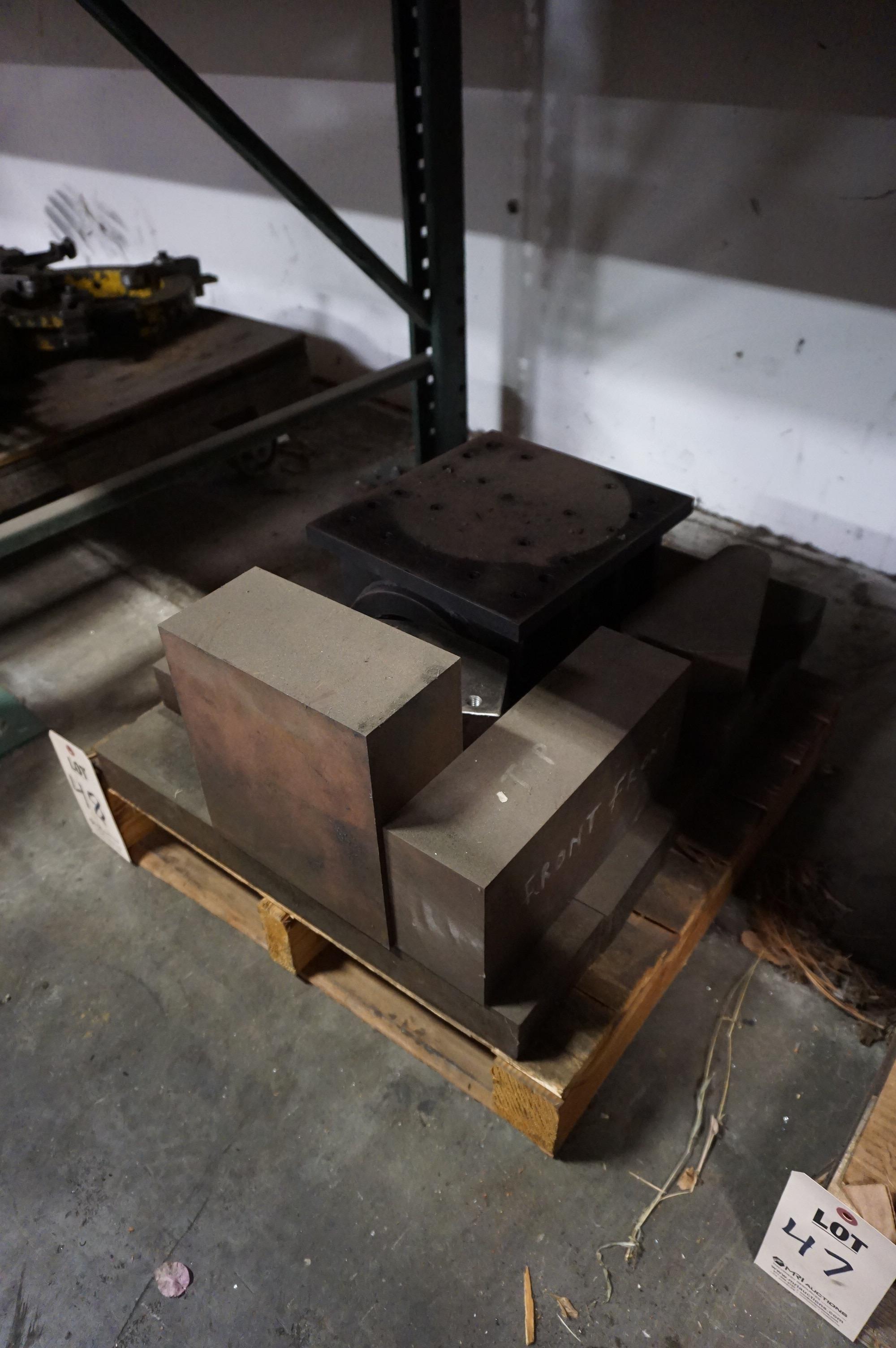 TILT TABLE AND MISC. STEEL BLOCK FIXTURES - Image 2 of 2