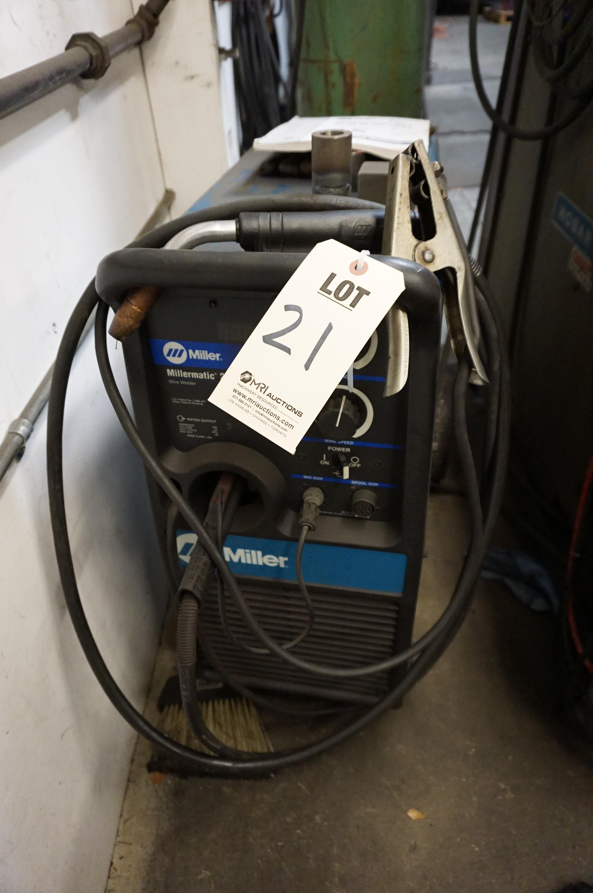 MILLER MILLERMATIC 251 WIRE WELDER WITH CABLES AND NOZZLES