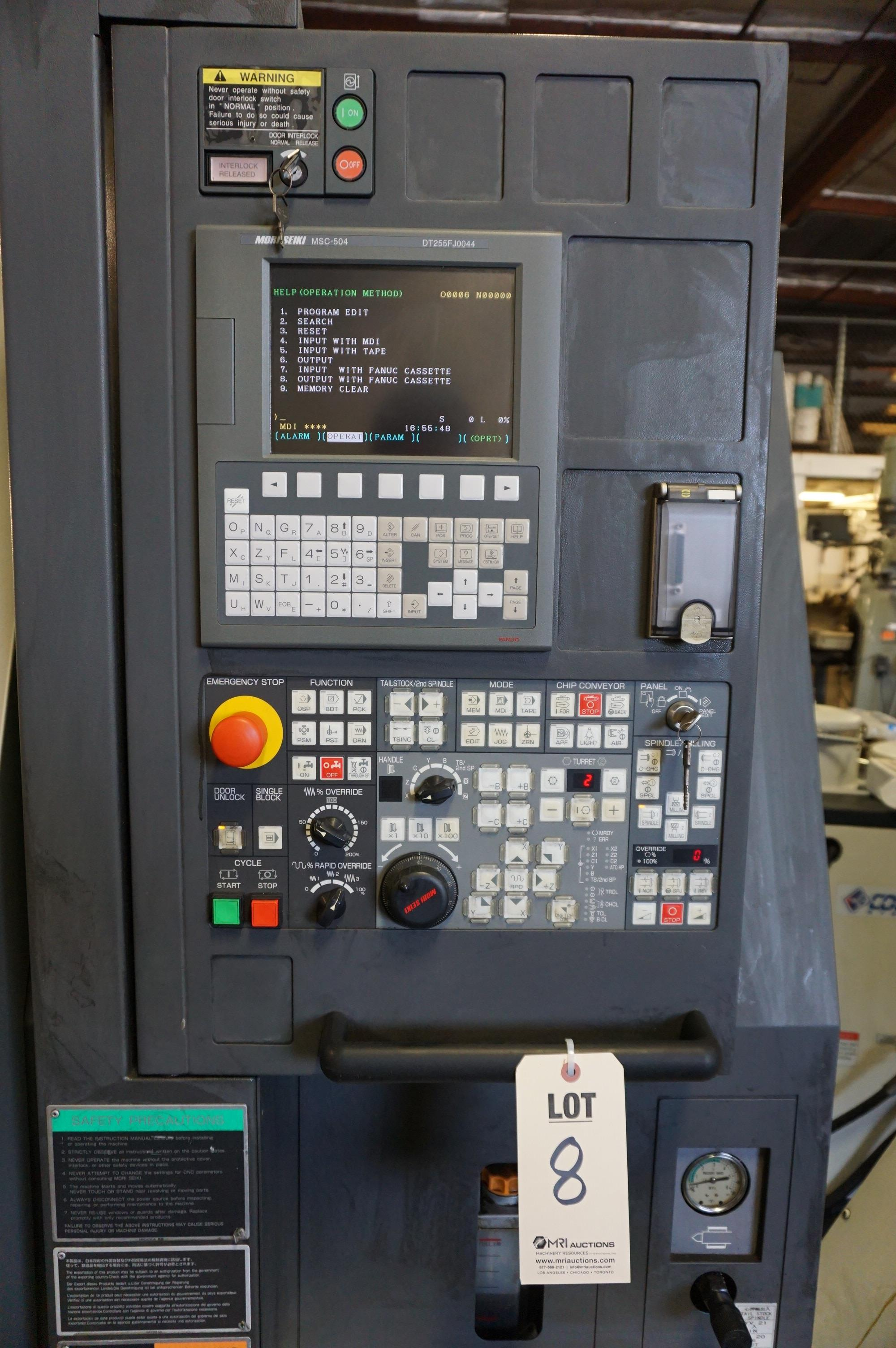 2006 MORI SEIKI DURATURN 2550 TURNING CENTER, S/N DT255FJ0044, WITH COOLJET HIGH PRESSURE COOLANT - Image 8 of 11