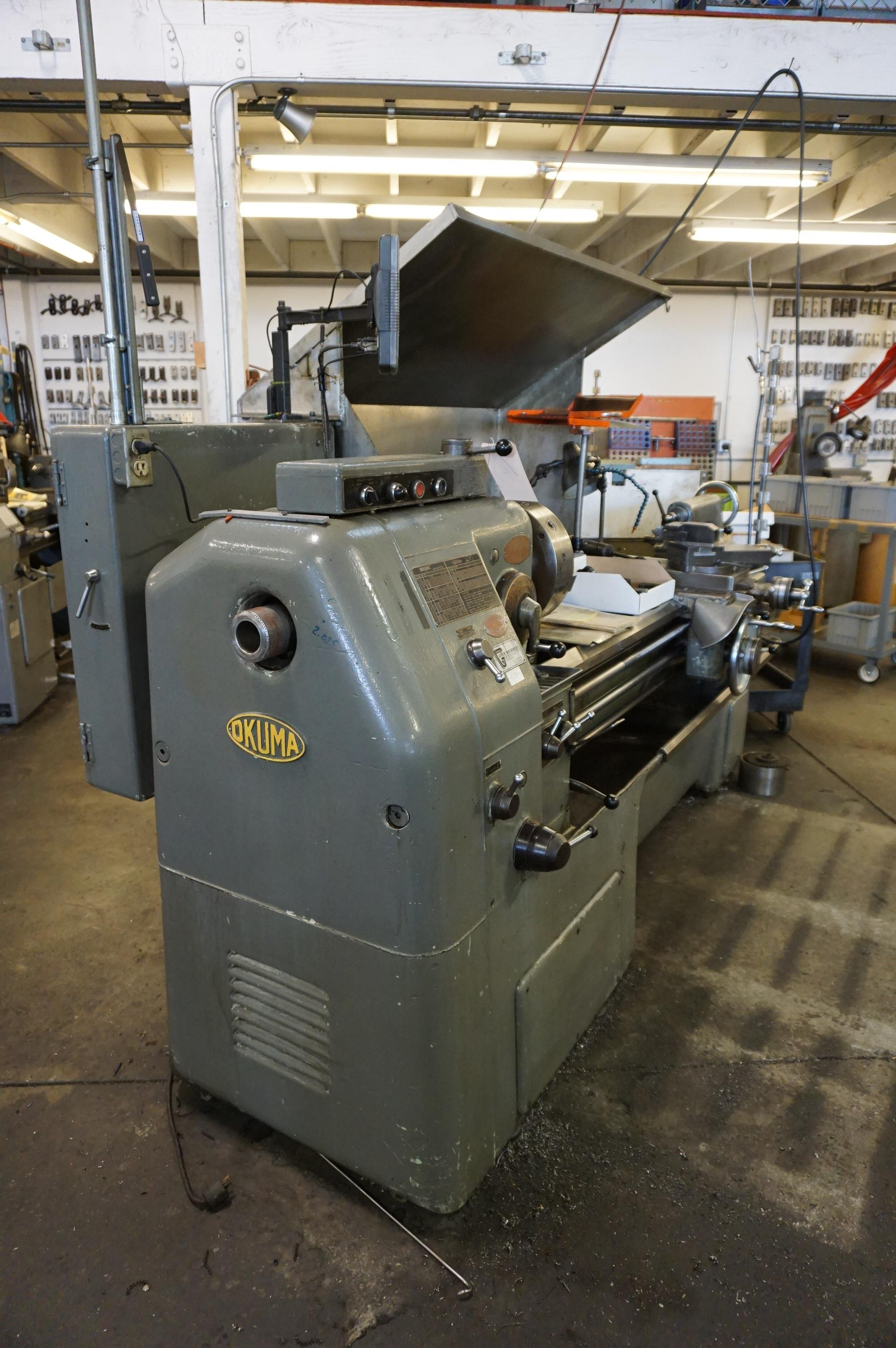 """OKUMA LS 16"""" x 47"""" SWING, S/N 4103-9309 WITH NEWALL C80 DRO, WITH ORIGINAL MANUALS AND SERVICE - Image 2 of 9"""
