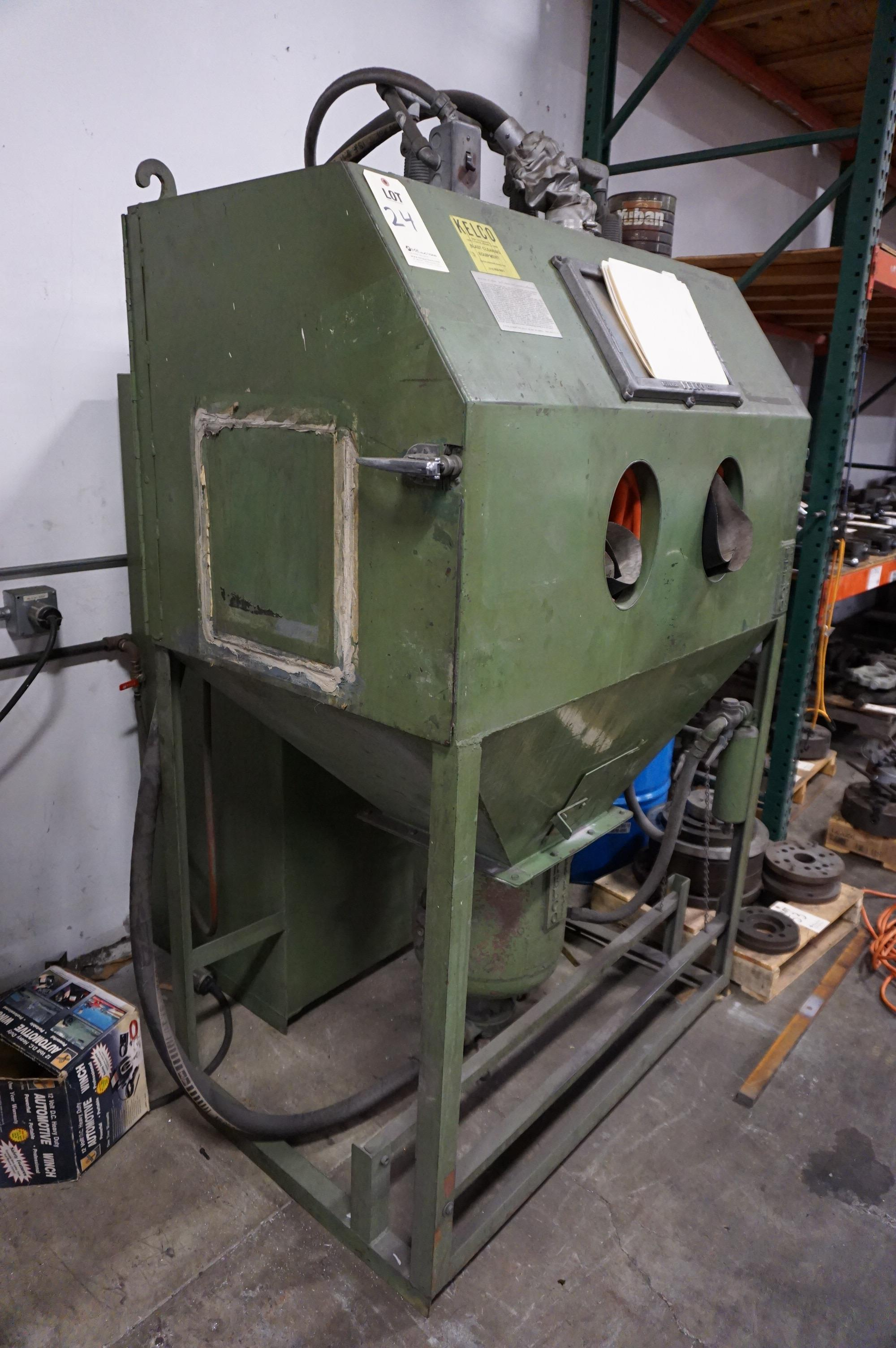 KELCO SAND BLASTING CABINET, MODEL NO CH48C, S/N C3443, WITH CATALOG - Image 2 of 7