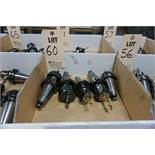 (5) CAT 40 TOOL HOLDERS, W/ MISC. TOOLING