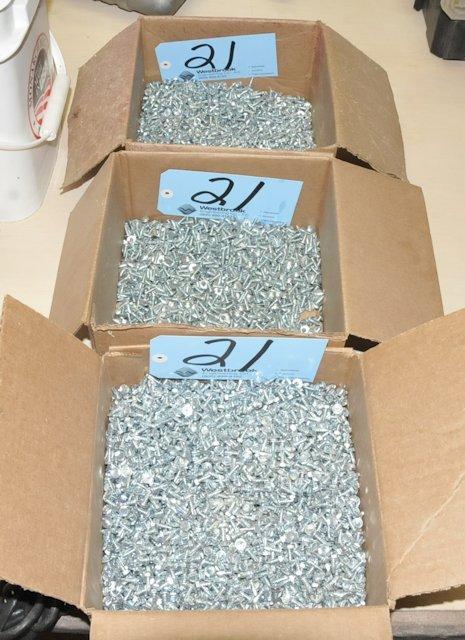 Lot-Self Tap Sheet Metal Screws in (3) Boxes