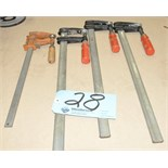 Lot-(4) Assorted Bar Clamps