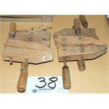 Lot-(4) Wood Clamps