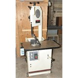 Jet Model VSF-14-1; Self-Feed Vertical Metal Cutting Band Saw; Cabinet Based; with Tools S/n