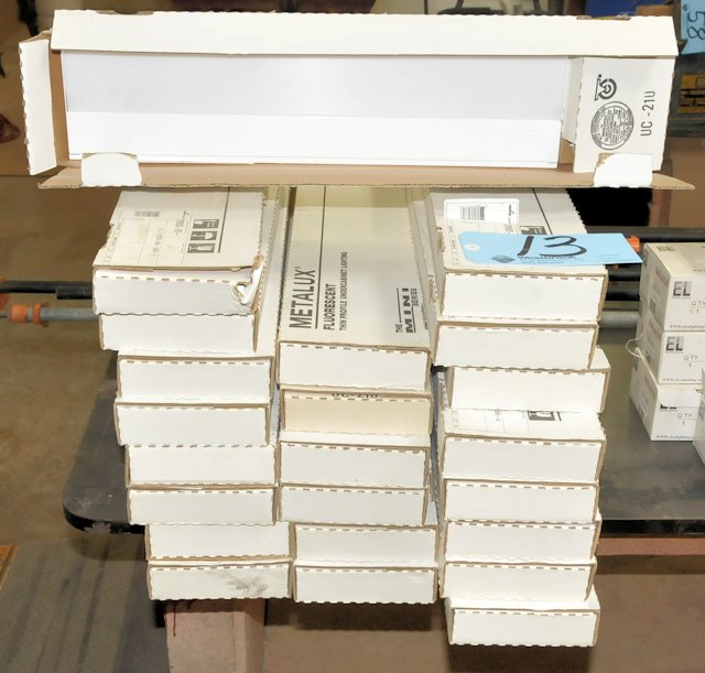 Lot-(23) Assorted Cooper Fluorescent Light Fixtures