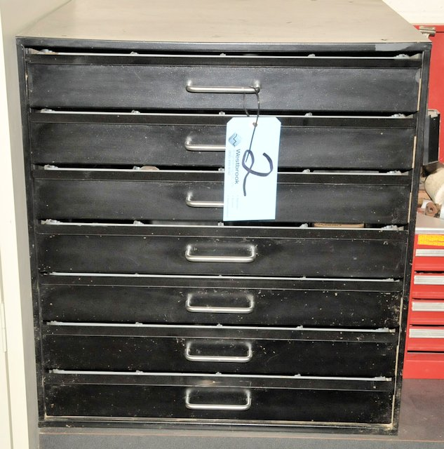 Lot-(1) 7-Drawer Tool Cabinet with Contents