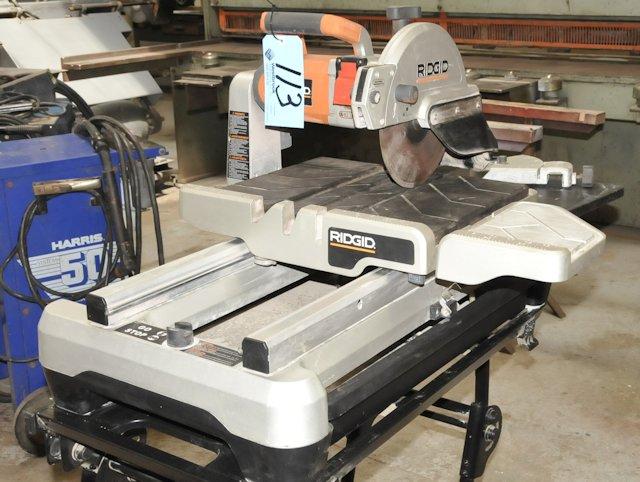 ridgid tile saw. lot 113 - ridgid model wts2000l; 10\ tile saw