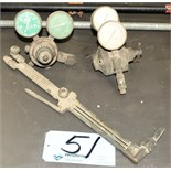 Lot-(1) Torch with Oxygen/Acetylene Gages