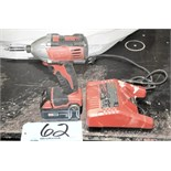 Milwaukee Cordless 18-Volt Driver Gun with Battery and Charger