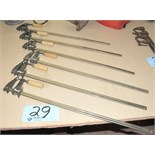 "Lot-(6) 24"" Bar Clamps"