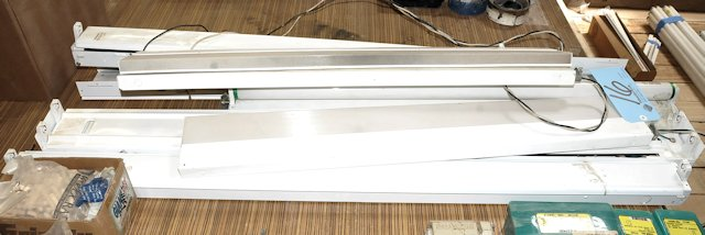 Lot-Assorted Fluorescent Light Fixtures