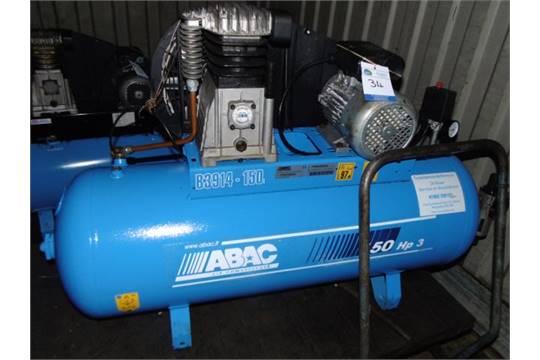 abac model b3914 150 240v receiver mounted air compressor 150 hp3 rh i bidder com