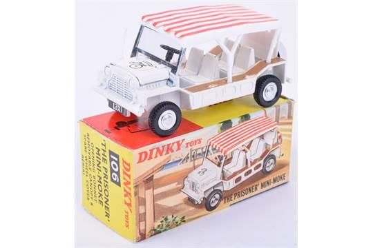 Previous  sc 1 st  The Saleroom & Dinky 106 u0027The Prisoneru0027 Miniu2013Moke white body white and red ...