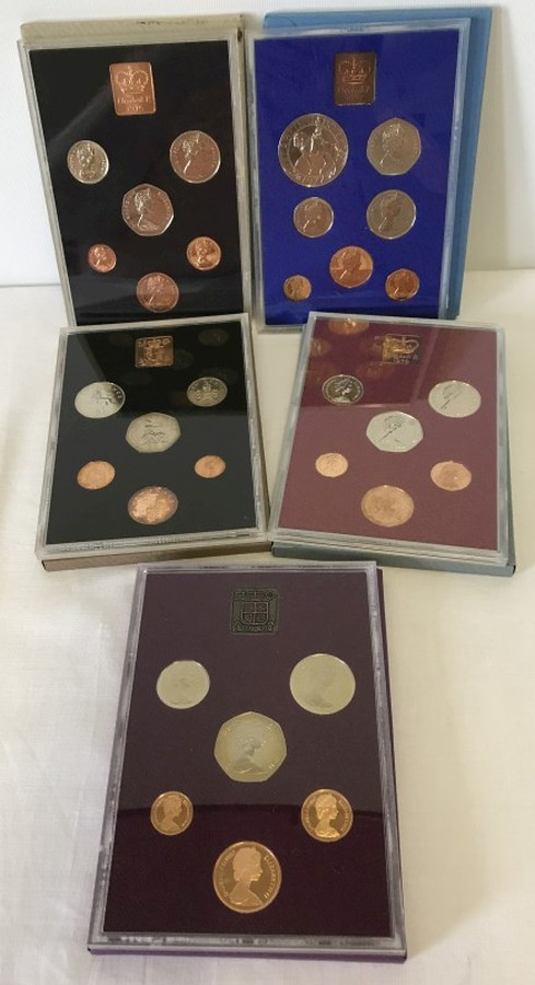 Lot 1007 - 5 Great Britain & NI standard coinage proof sets.