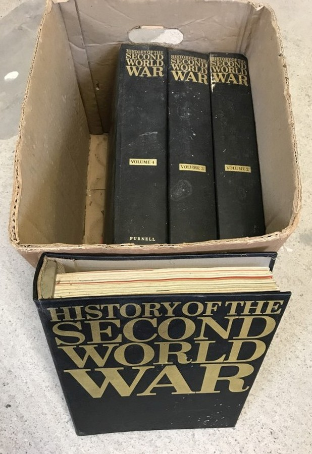 "Lot 1054 - 4 volume bound set of ""History of the Second World War"" By Purnell."