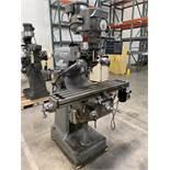 ALLIANT 42-S Milling Machine, s/n 70510975, Acu-Rite Mill Mate 2-Axis DRO