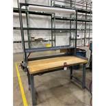 "Wood Top Work Bench, 30"" x 60"", w/ Light"