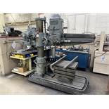 """CINCINNATI BICKFORD 4' x 10"""" Radial Arm Drill, s/n 1R5403, 18"""" x 24"""" x 18"""" Table, 140-1200 RPM"""