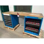 """SUSTA/KENNEDY Wood Top Work Bench, 23.5"""" x 79"""" Top, w/ Ball Bearing Drawer Base"""