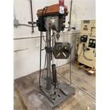 RIDGID DP15501 Drill Press, s/n AM052443797, w/ Heinrich Pneumatic Vise
