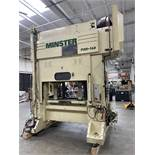 """2002 MINSTER P2H-160 Precision Straight Side Press, s/n 30126, 180 Ton Capacity, 63"""" x 33.5"""" Bed"""