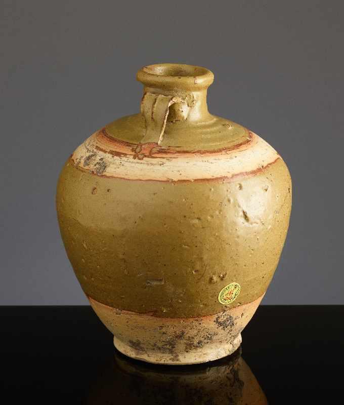 KUGELIGES TOPFGEFÄSSGlasierte Henan-Keramik. China, Ming bis Qing, ca. 16. Jh. – 18.Jh. Kugelige - Image 4 of 6